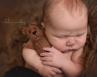 Mini Brown Bear- Newborn Photography prop