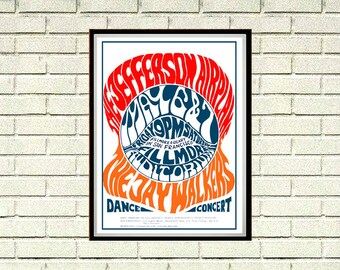 Reprint of a 60's Summer of Love Music Concert Poster