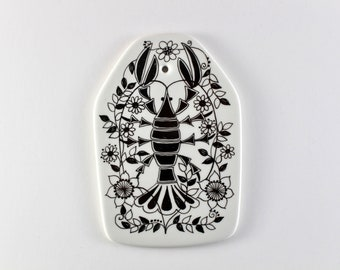 Figgjo Flint  - Zodiac Cancer plaque  - Designed by Turi Gramstad Oliver - Made in Norway.