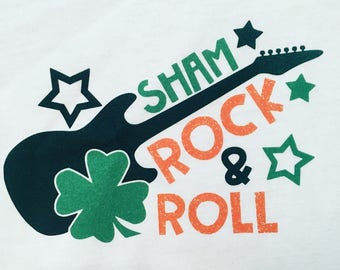 Boy's St. Patrick's Day Shamrock N Roll Tee