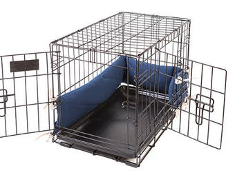 Dog Crate Bumper - Sailor Blue - Double Doors