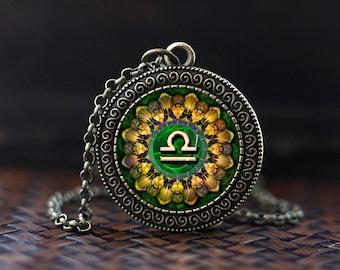 Libra Zodiac Necklace, Libra Pendant, Libra Zodiac Jewelry, Libra constellation Necklace, Libra Zodiac Sign, Astrology Necklace,