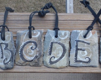 Letter or Number Ornament on New Orleans Recycled Roofing Slate