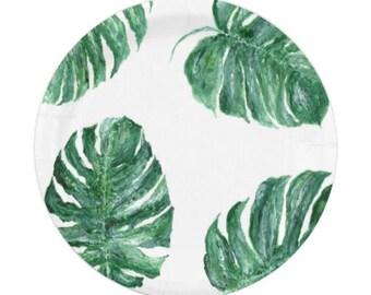 Palm Leaf Paper Plates, monstera leaf plates, tropical leaf plates, palm leaf plate, palm leaf plates, monstera party, leaf paper plates