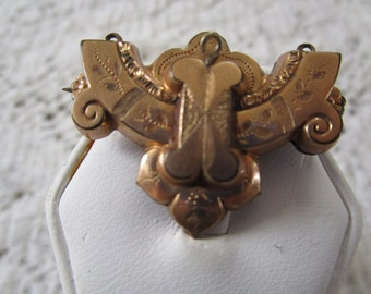 Reduced  - Antique Victorian Gold Filled Brooch