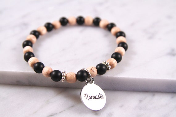 Namaste | Namaste Jewelry | Namaste Bracelet | Yoga Teacher | Yoga Gift | Mala Beads | Yoga Bracelet | Yoga Jewelry | Namaste in Bed | Beads