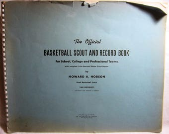 Official Basketball Scout & Record Book Yale University HOWARD A. HOBSON 1948 Rare!
