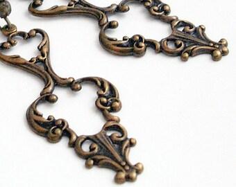 Baroque Bronze Beauties - Dangle Earrings
