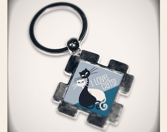 Keyring I LOVE CATS