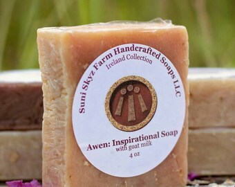 Awen Inspiration Soap - Irish Soap - Lemon Lime Soap - Spa Soap - Goat Milk Soap - Natural Soap - Handmade Soap - Suni Skyz Farm Soap