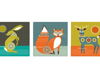 Woodland animals notecards
