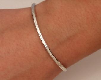 Hammered Cuff Bracelet, Sterling Silver (350cur.s)