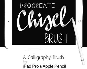 Procreate Brushes iPad Pro Hand Lettering Calligraphy Chisel Brush