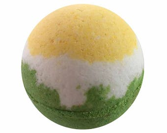 Gardenia Bath Bomb, Bath Fizzy, Handmade Spa Product, Epsom Salts, Hydrating Coconut Oil, Sensitive Skin, Great Gift for Her