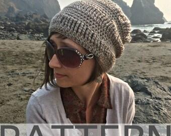 Crochet Beanie Pattern | Sand Drift Beanie | Crochet Hat Pattern | Slouchy Beanie