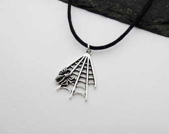 Spider Web Necklace, Spider Choker, Halloween Necklace, Spider Necklace, Jewelry, Spider Web Choker, Halloween Choker,  Halloween Jewellery
