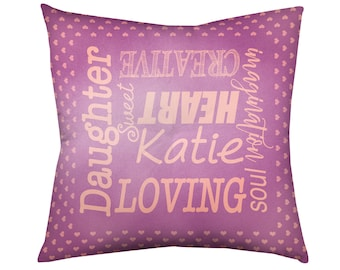 "Floor Cushion, Square Floor Pillow, Kids Floor Pillow, Large Floor Pillow, Meditation Cushion, Tufted Cushion, 30"" Custom Name Floor Cushion"