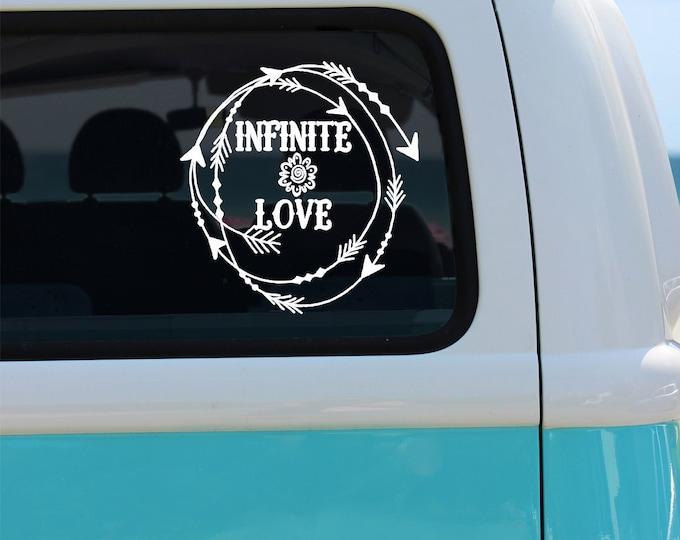 Infinite Love Vinyl Window Decal - Car Sticker - Car Decal - Infinite Love Decal - Love Decal - Infinite Love - Love - Decal - Vinyl Decal