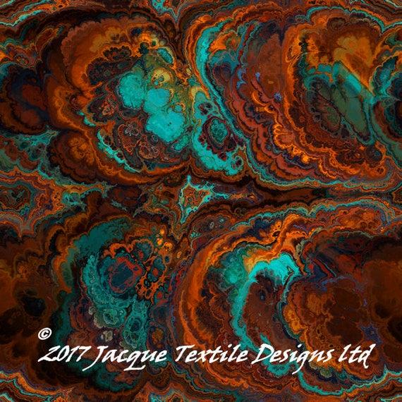 Turquoise Brown Artisan Handmade Fleece Fiber Art Fabric Panel Blanket Mittens Hat