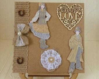 Steampunk Wedding Day Card