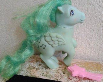Vintage G1 My Little Pony Medley with Pink Shooting Star Brush