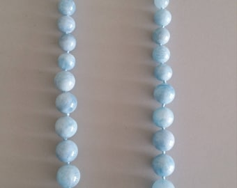 Graduating Aquamarine Necklace - Birthstone of March