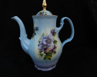 Teapot: Porcelain Hand Decorated