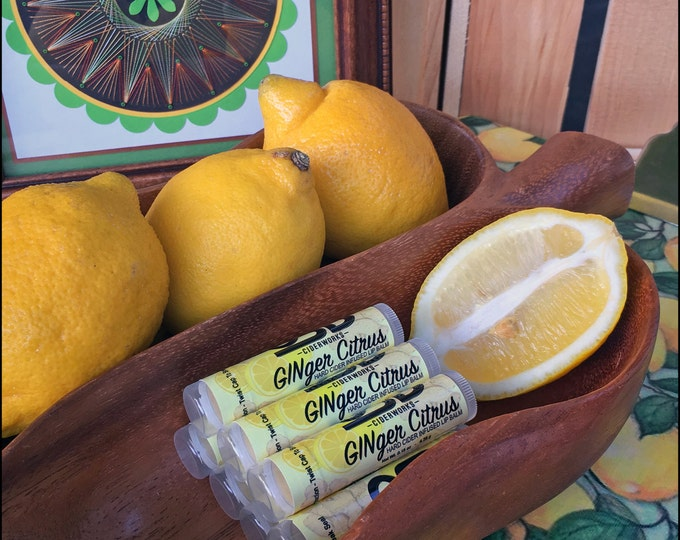 Featured listing image: Original Stump Blower Ciderworks GINger Citrus Hard Cider Infused Lip Balm by Cire d'Abeille™ - Gluten Free