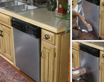 Update dishwasher to Stainless Steel Instantly As Seen On Rachael Ray, HGTV, QVC