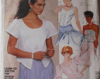 SALE - 1980's Brooke Shields Pattern - Fitted Blouse and Camisole - McCall's 2388 - Size 6, Bust 30 1/2, Uncut