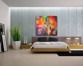 Abstract Painting,contemporary art modern original canvas, abstract painting wall art decor.