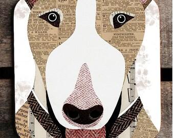 English Bull Terrier dog coaster