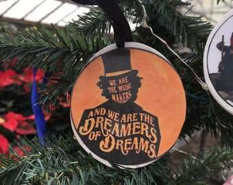 Willy Wonka Music Makers Dreamers of Dreams Ornament