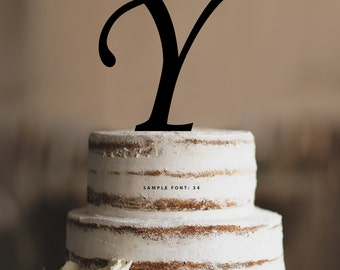 Letter y cake topper etsy personalized monogram initial wedding cake toppers letter y custom monogram cake toppers traditional altavistaventures Choice Image
