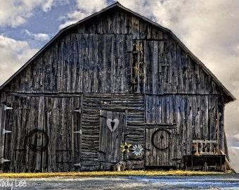 Barn Photograph, Old Barn, Unique Barn, Rustic, Country, North Carolina Barn, Gray Barn, Barn Wall art, Farm Decor