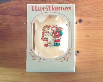 1990, Campbell Soup Kids, Glass Ornament, Round, Orb, Ball, Christmas, Holiday, Tree, Decoration, Collectable