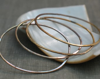 1.5 inch diameter oxidized brass circles- antiqued brass hoops, oxidized brass hoops, large brass hoops, forged circles, beading supplies