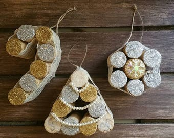 Handcrafted ornaments set of 3