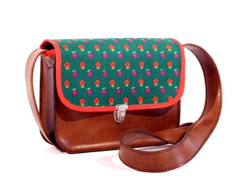 Shoulder bag 70s flowers *.