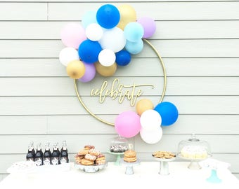 Wood 'celebrate' Sign, Party, Home Decor.