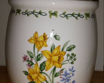 Thomas Pottery Floral Garden LARGE Canister