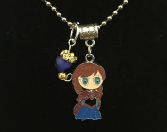 Handmade Anna Pendant Necklace with Charm