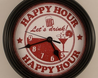 Happy Hour Wall Clock Novelty Party Gift