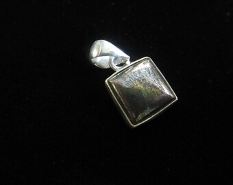 Cobalt Native Silver Necklace Pendant- square
