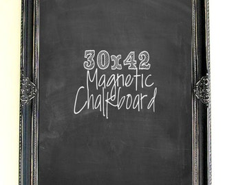 Valentines Gift for Mom CHALKBOARD Large Magnetic Distressed Wood Framed Blackboard Gothic Wedding Baroque Rustic Framed Wedding Chalkboard