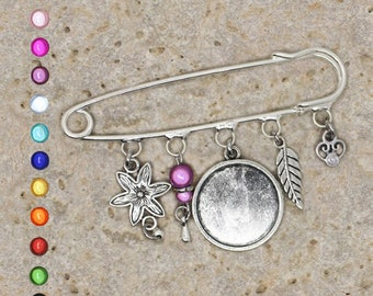 Cabochon 20 mm brooch finding
