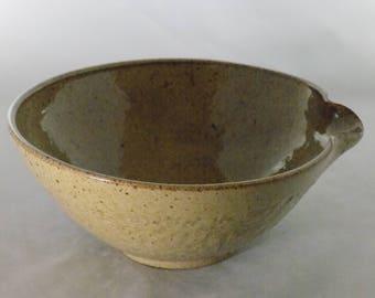 Ceramic Mixing Bowl-Batter Bowl-Bowl Without Handle-Pottery Mixing Bowl-Handmade Mixing Bowl-Ceramic Bowl-Cottonwood Creek-Elizabeth Gebert