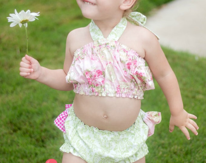 Tea Party Top And Bloomer Set by Hello Lalla Collection