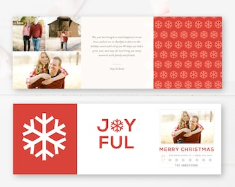 5x5 Trifold Design, Holiday Photographer Templates, Christmas Card Template, Photoshop Templates - INSTANT DOWNLOAD!