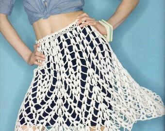 Chevron Skirt Crochet Pattern Womens Scallop Cluster Crochet Pattern Small Medium Large XL 2XL  PDF Instant Download